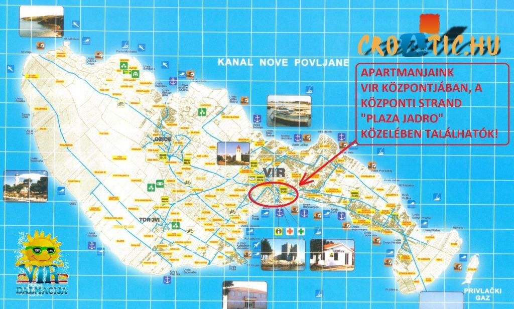 vir sziget térkép Vir sziget, Horvátország Vir sziget, Vir sziget apartman  vir sziget térkép